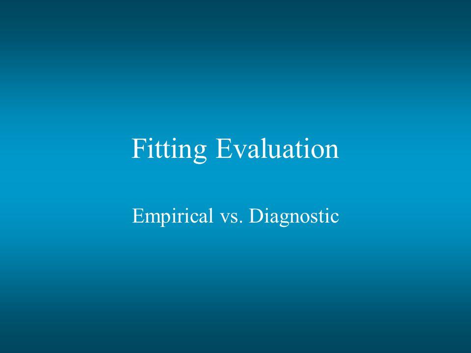 Fitting Evaluation Empirical vs. Diagnostic