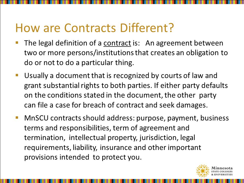How are Contracts Different.