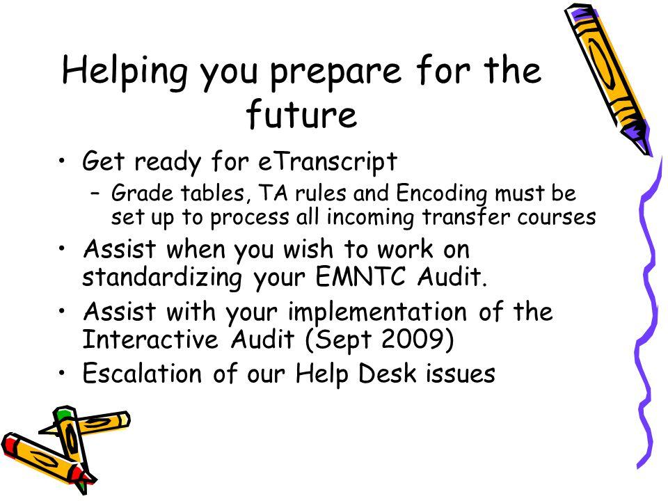 Help Desk changes Need Help.