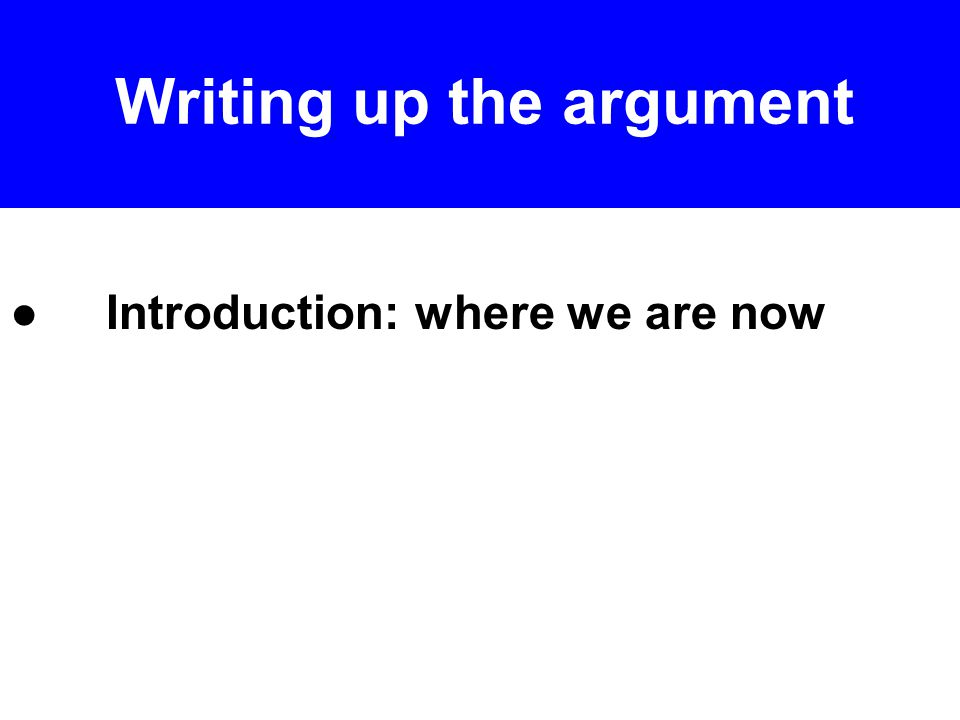 ●Law ●Argument – applying law to facts ●Deploying facts for the first time in this section.