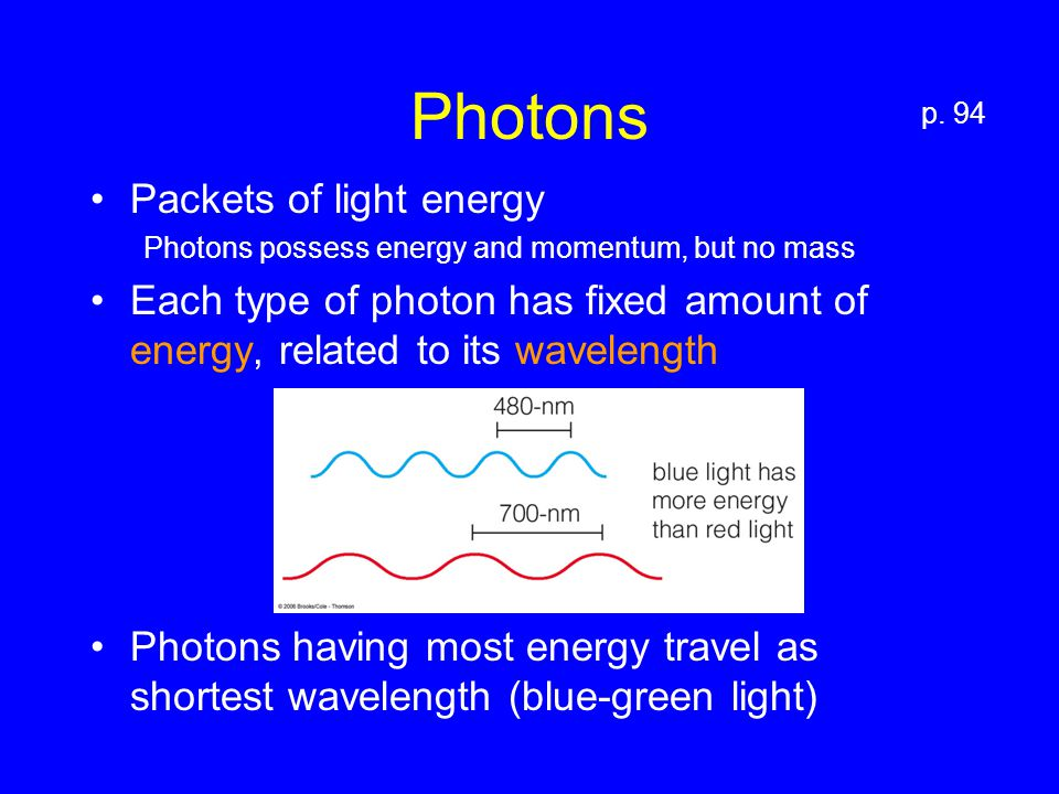 Two Stages of Photosynthesis C 6 H 12 O 6 Carbon Fixation p. 97