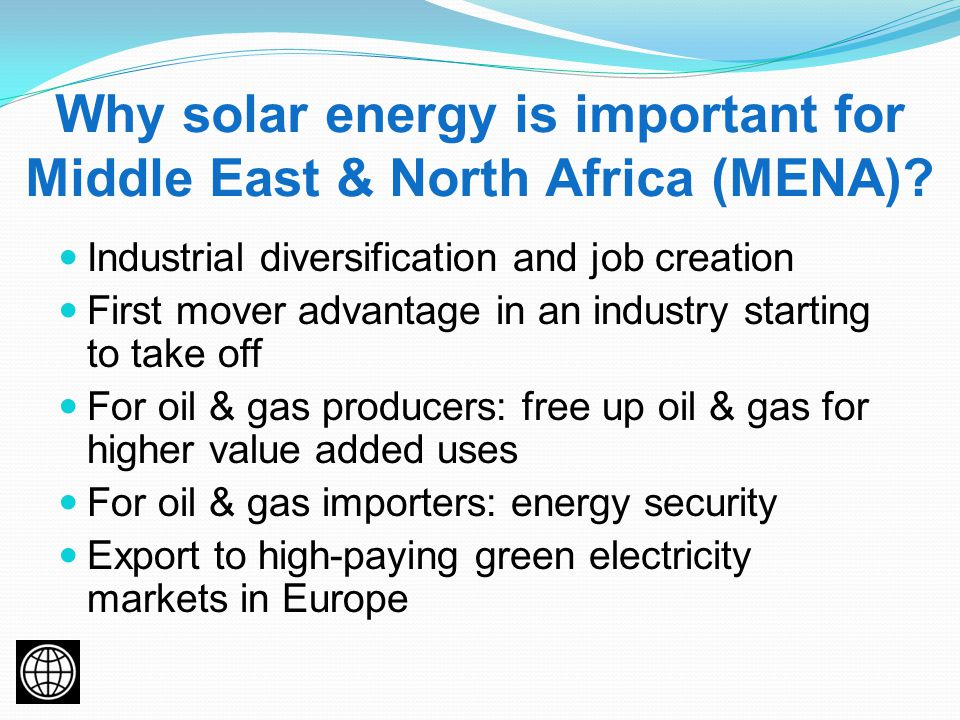 Why solar energy is important for Middle East & North Africa (MENA).