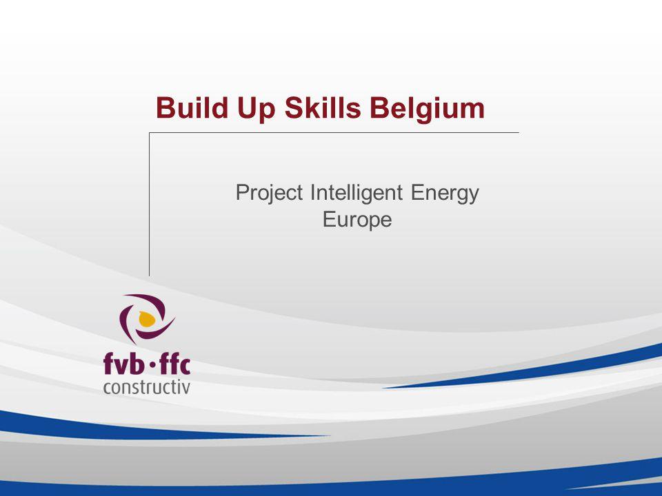 Build Up Skills Belgium Project Intelligent Energy Europe