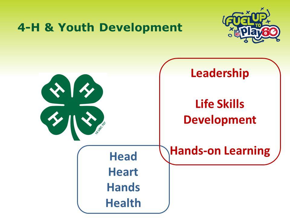 4-H & Youth Development Head Heart Hands Health Leadership Life Skills Development Hands-on Learning