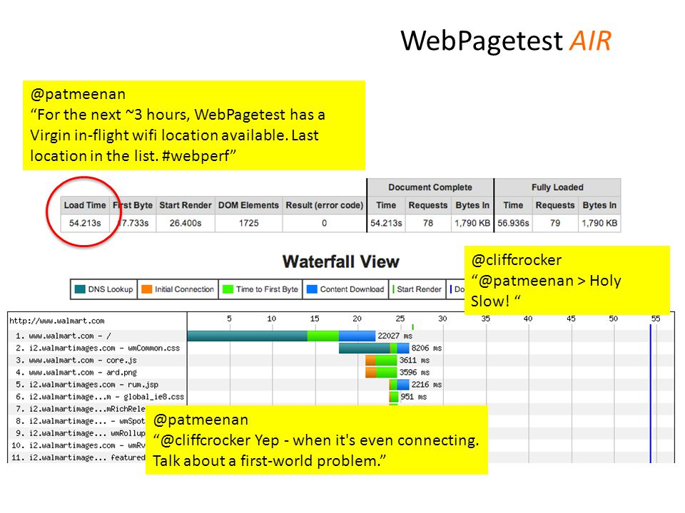 @patmeenan For the next ~3 hours, WebPagetest has a Virgin in-flight wifi location available.
