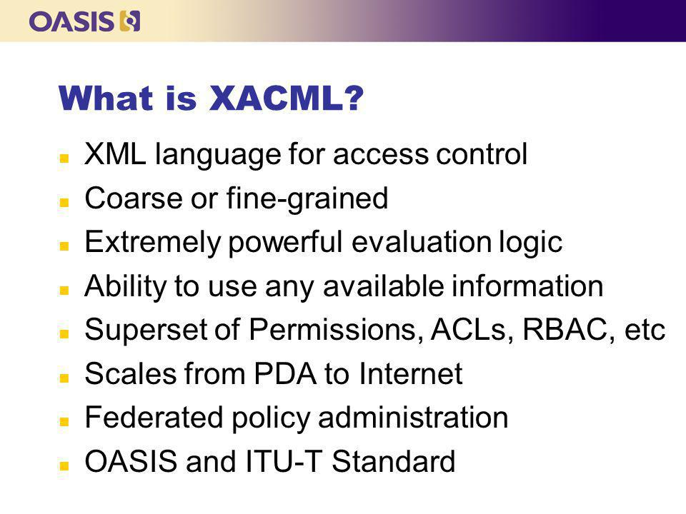 What is XACML.