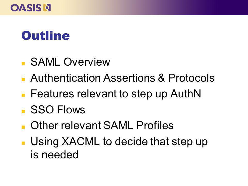 SAML 2.0 – Brief History n SAML 2.0 - OASIS Standard - March 2005 n ITU-T Rec.