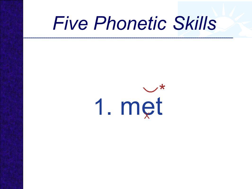 1. met X * Five Phonetic Skills