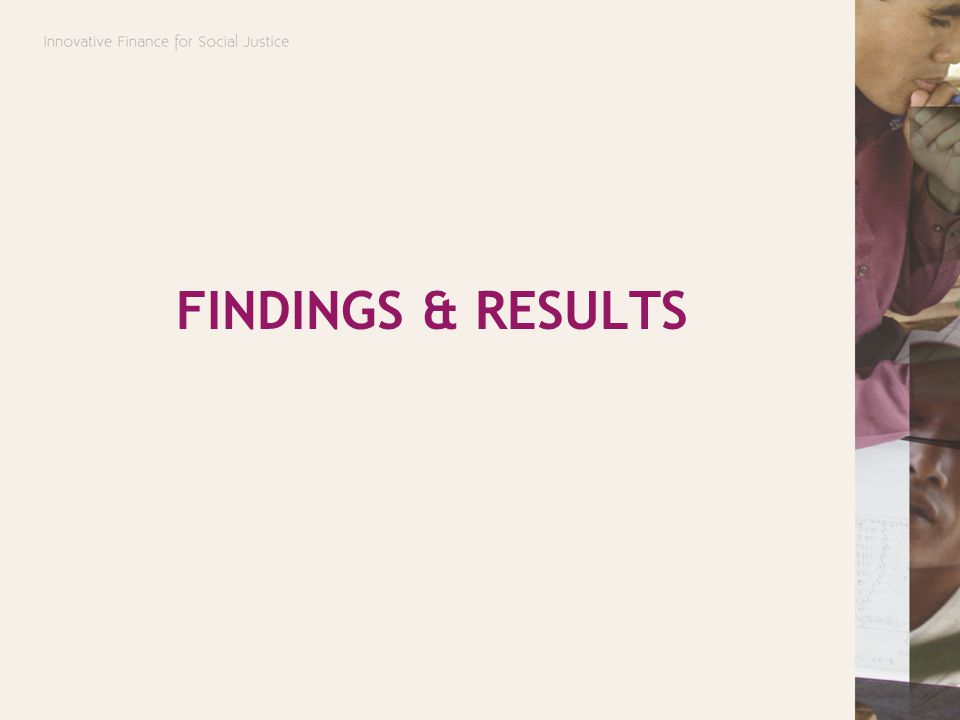 FINDINGS & RESULTS