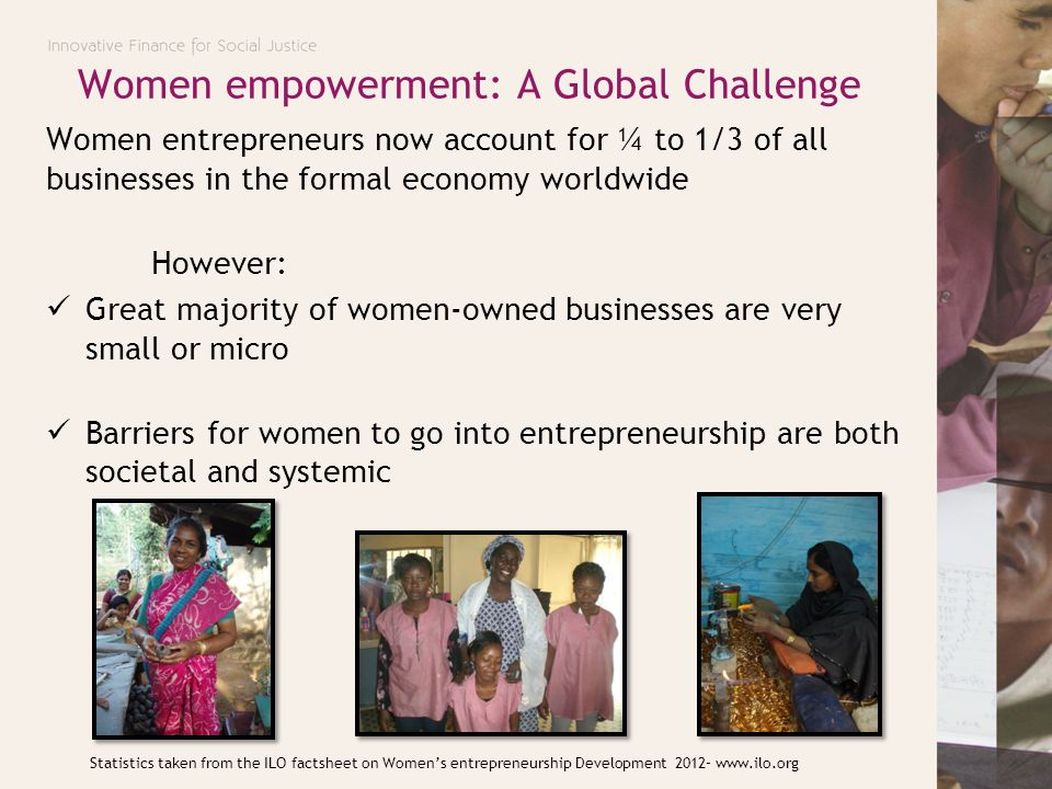Challenges in Tajikistan In the last decade entrepreneurship for women has decreased and become a male-dominated activity.