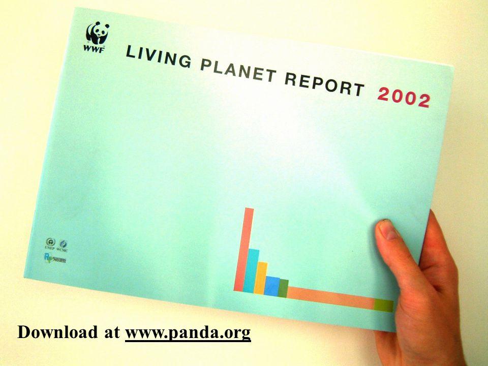 Living planet report cover Download at www.panda.org