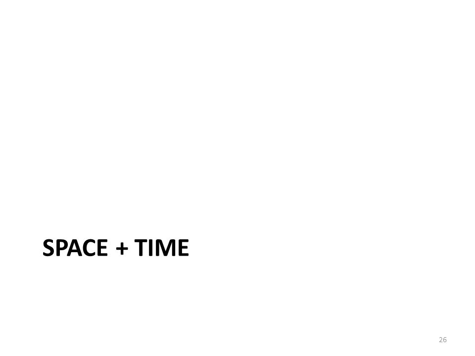 SPACE + TIME 26