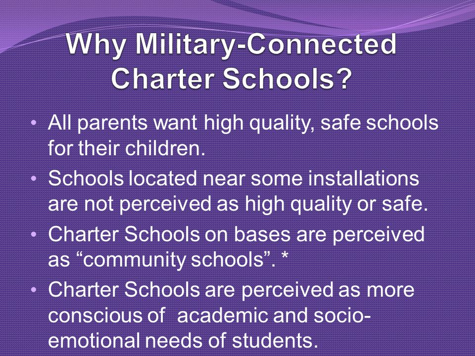 All parents want high quality, safe schools for their children.