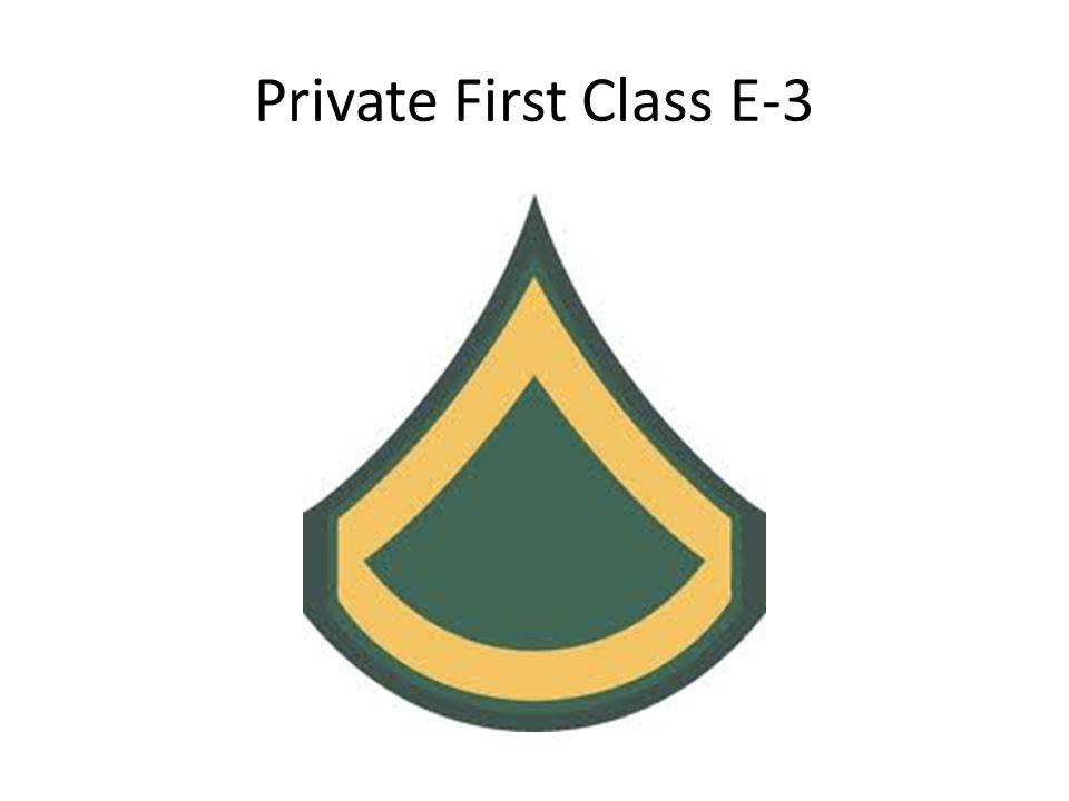 Private First Class E-3