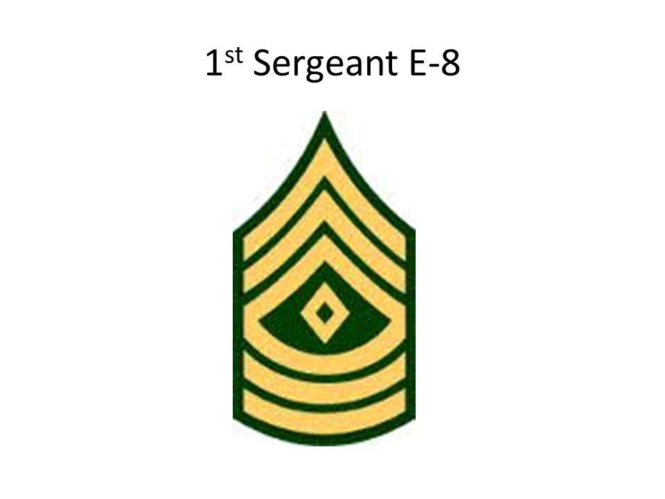 1 st Sergeant E-8