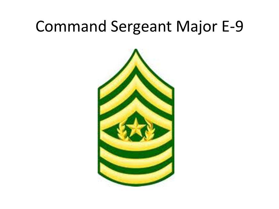 Command Sergeant Major E-9