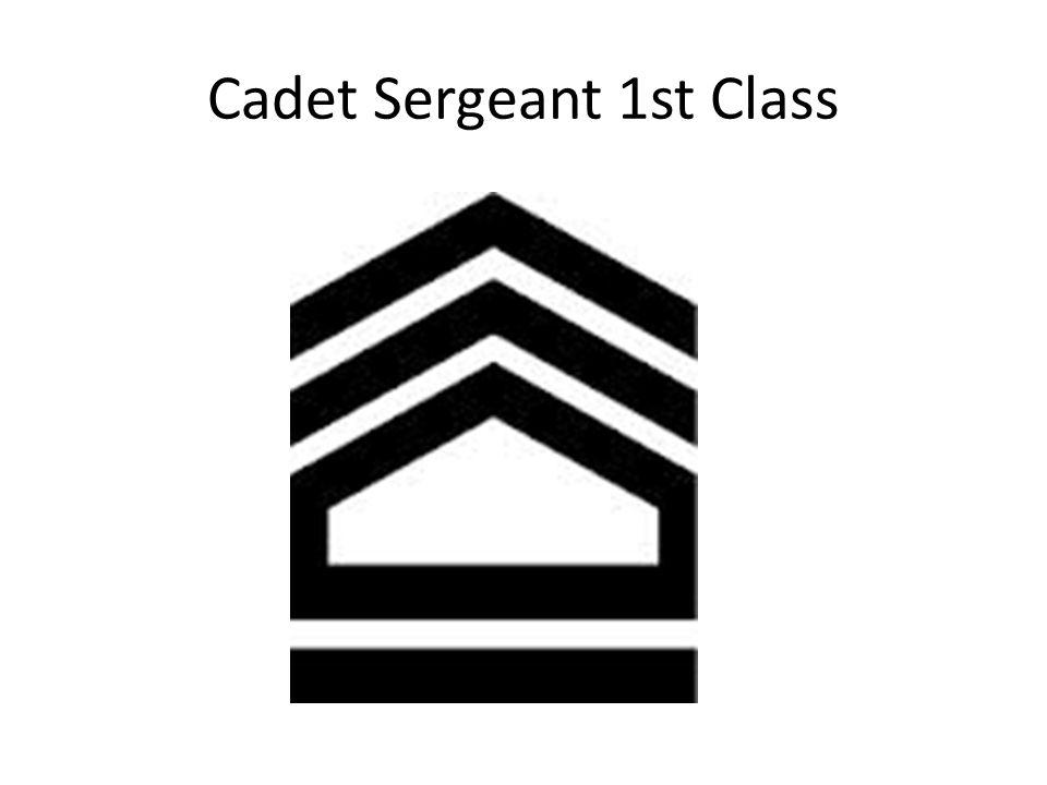 Cadet Sergeant 1st Class