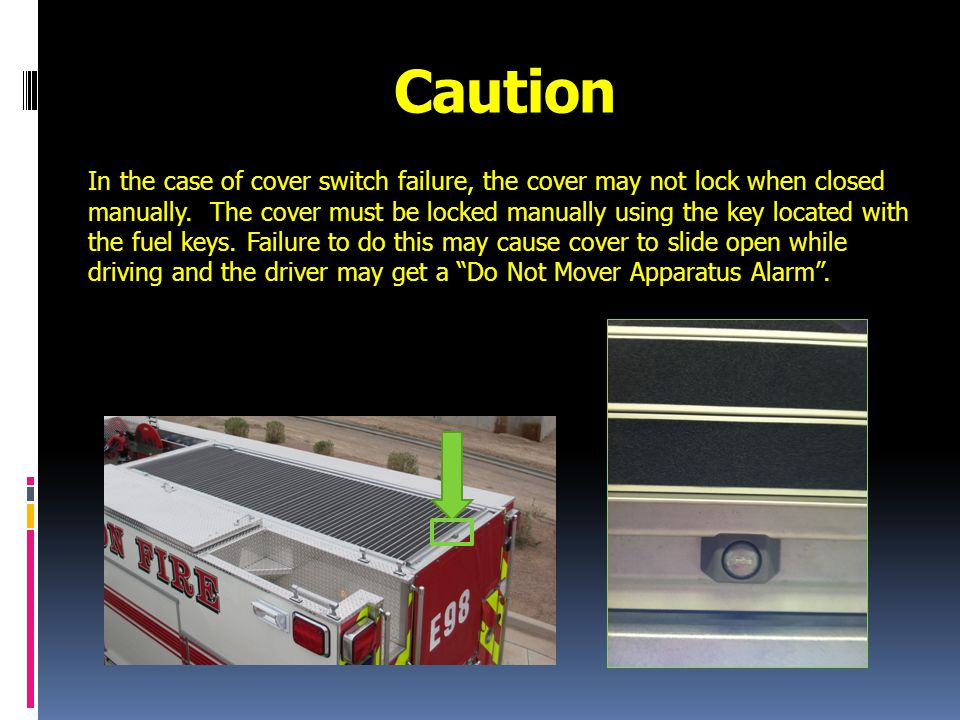 If Cover will not Close with Switch Pull manual override lever.