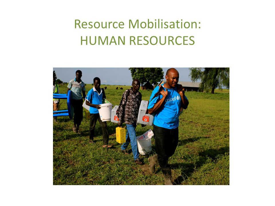 Resource Mobilisation: HUMAN RESOURCES
