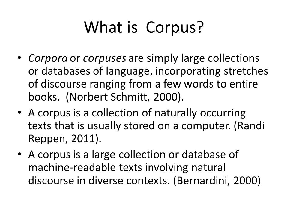 What is Corpus.