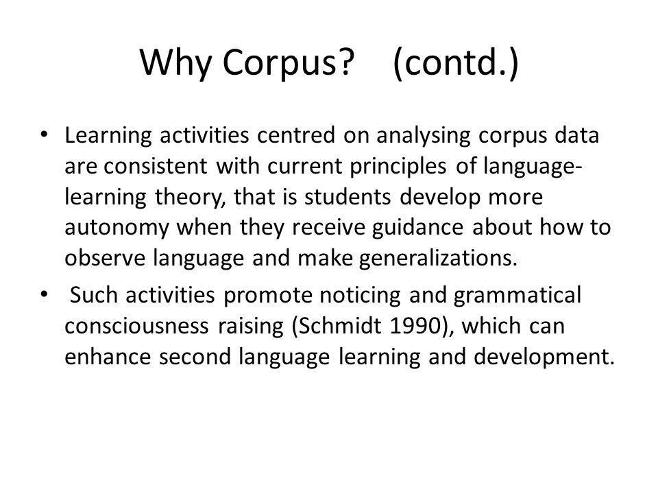 Why Corpus.