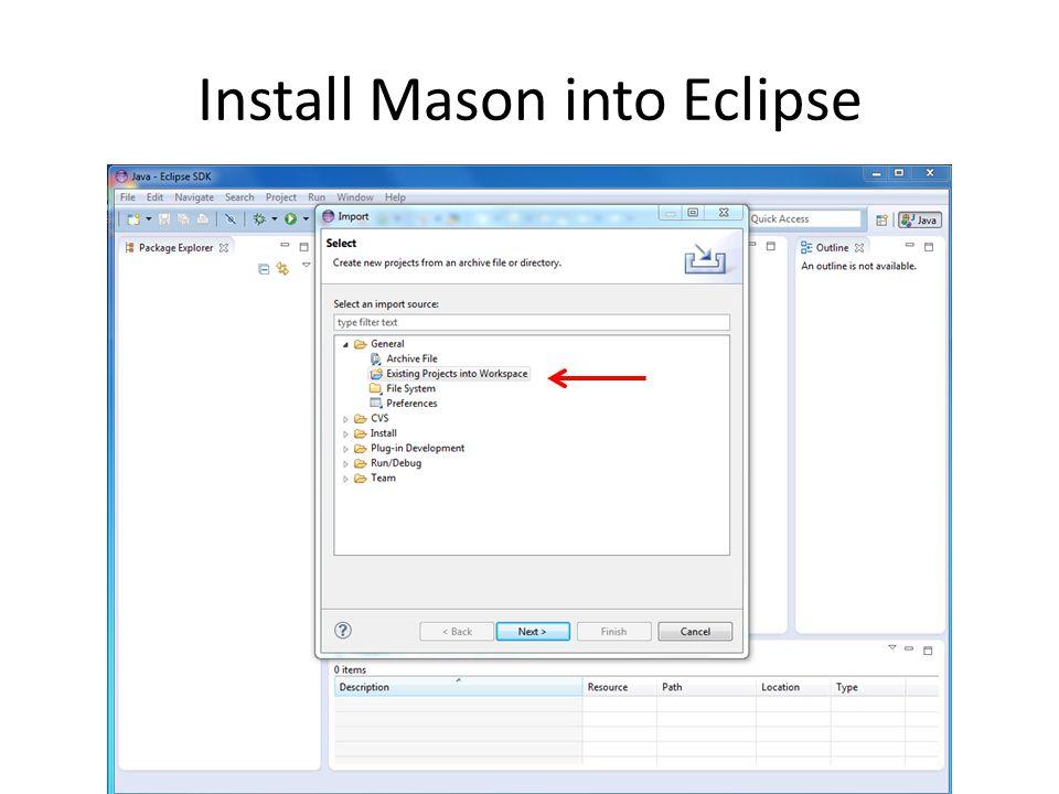 Install Mason into Eclipse