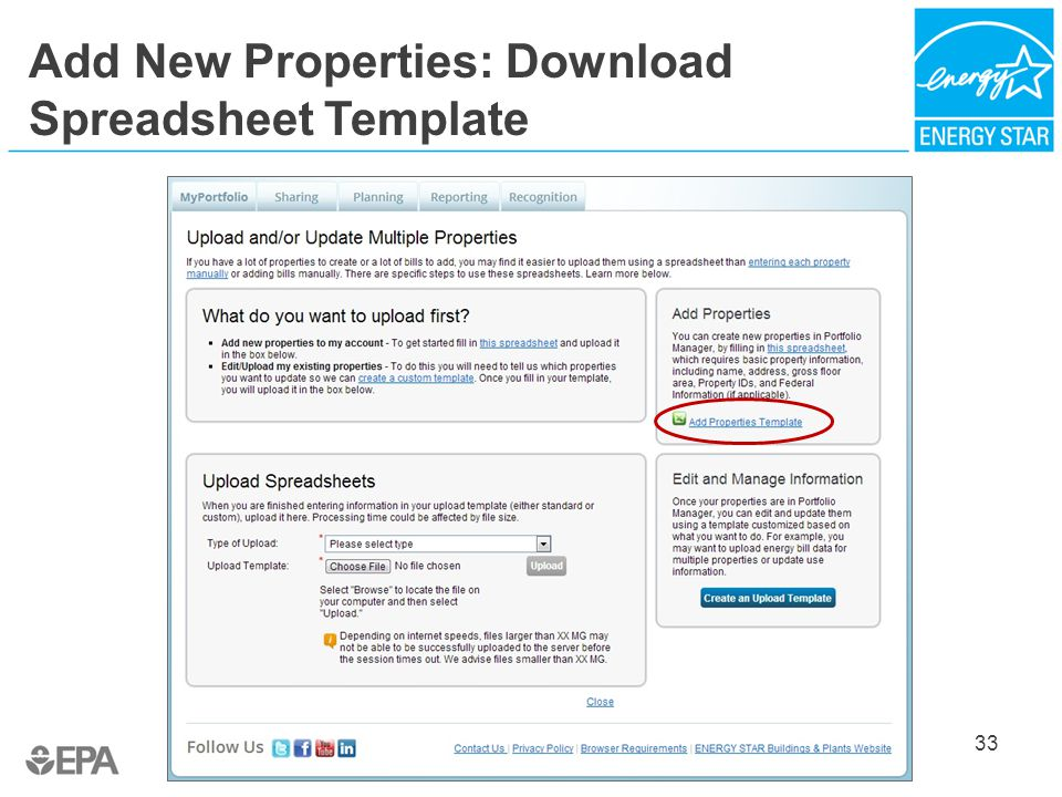 Add New Properties: Download Spreadsheet Template 33
