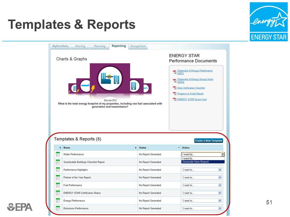 Templates & Reports 51