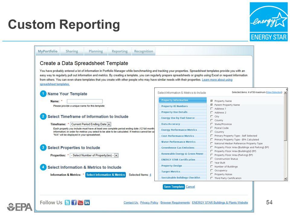 Custom Reporting 54
