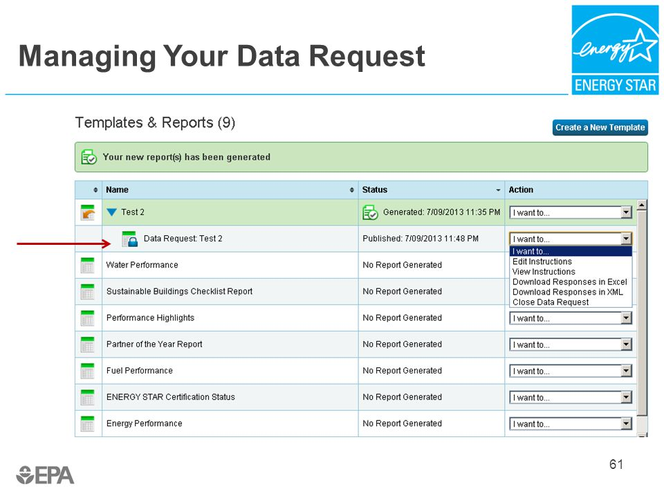 Managing Your Data Request 61