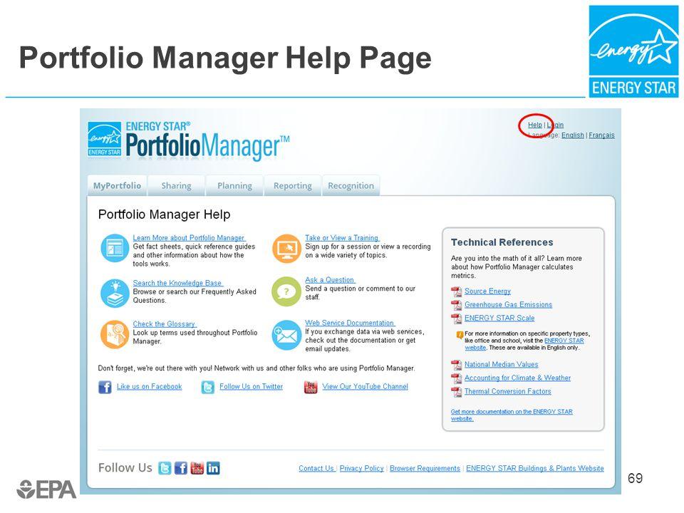 Portfolio Manager Help Page 69