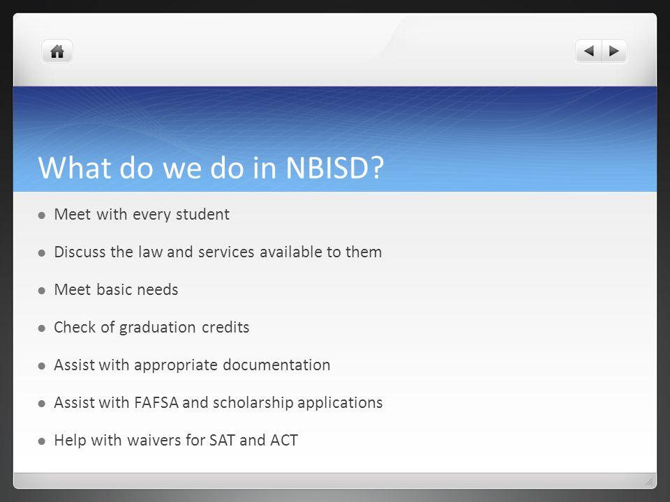 What do we do in NBISD.