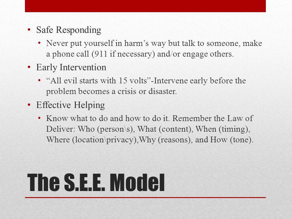 The S.E.E.