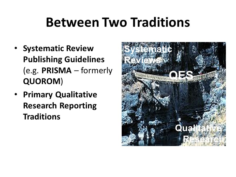 Between Two Traditions Systematic Review Publishing Guidelines (e.g.