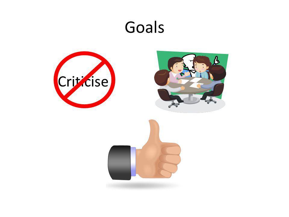 Goals Criticise