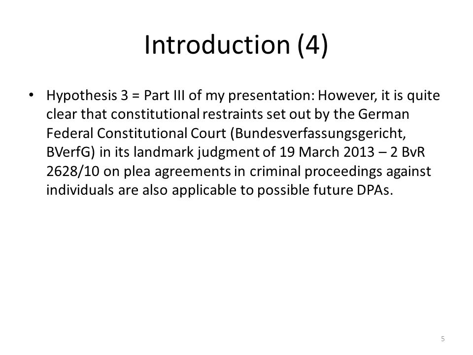 Part I: DPAs under current German legislation (1) corporate liability in Germany: in theory administrative, in practice quasi-criminal corporate liability pursuant to current § 30 OWiG – corporate bodies and unincorporated associations (= para.