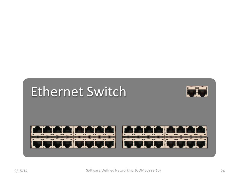 Ethernet Switch 9/15/1424 Software Defined Networking (COMS6998-10)