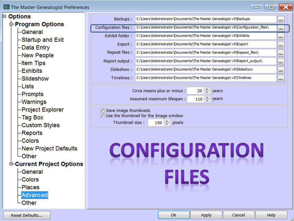 Configuration Files 9 Oct 2010 / 11 Oct 2014John Clark / Janis Rodriguez13