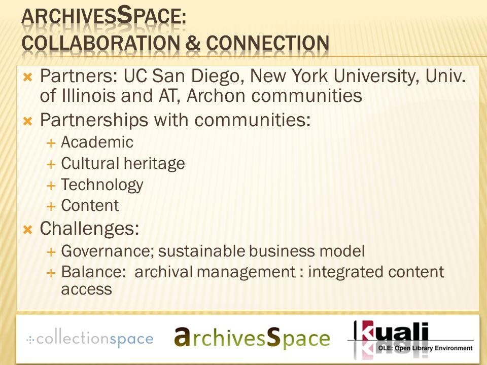  Partners: UC San Diego, New York University, Univ.