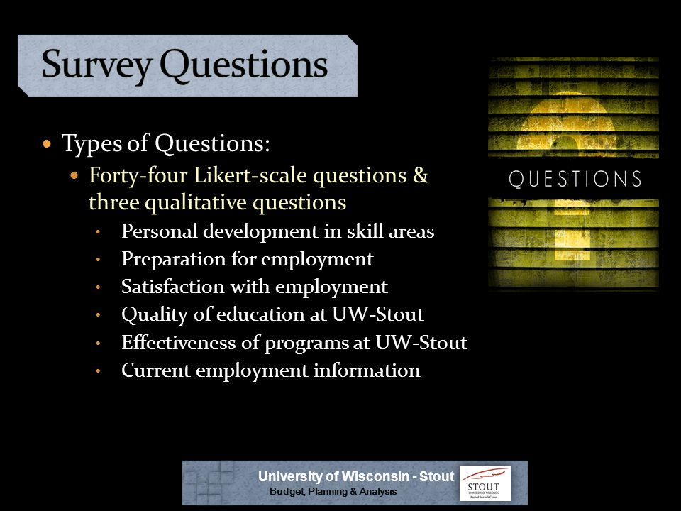 Comments? Questions? University of Wisconsin - Stout Budget, Planning & Analysis