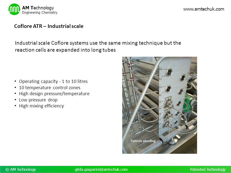 © AM Technology gilda.gasparini@amtechuk.com Patented Technology www.amtechuk.com AM Technology Engineering Chemistry Operating capacity - 1 to 10 lit