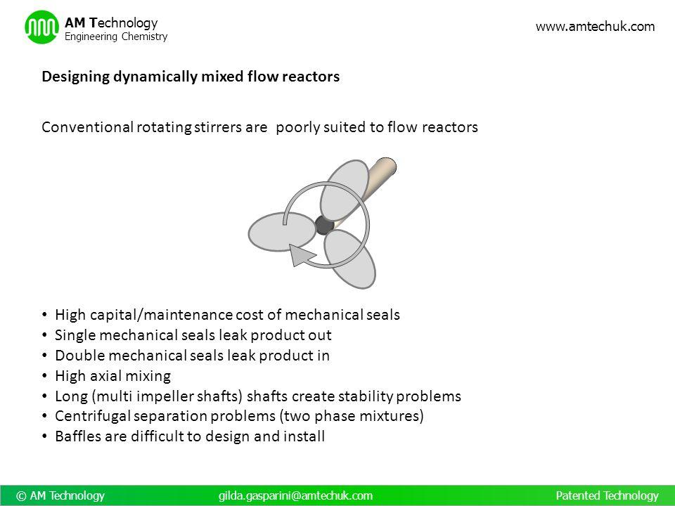 © AM Technology gilda.gasparini@amtechuk.com Patented Technology www.amtechuk.com AM Technology Engineering Chemistry High capital/maintenance cost of