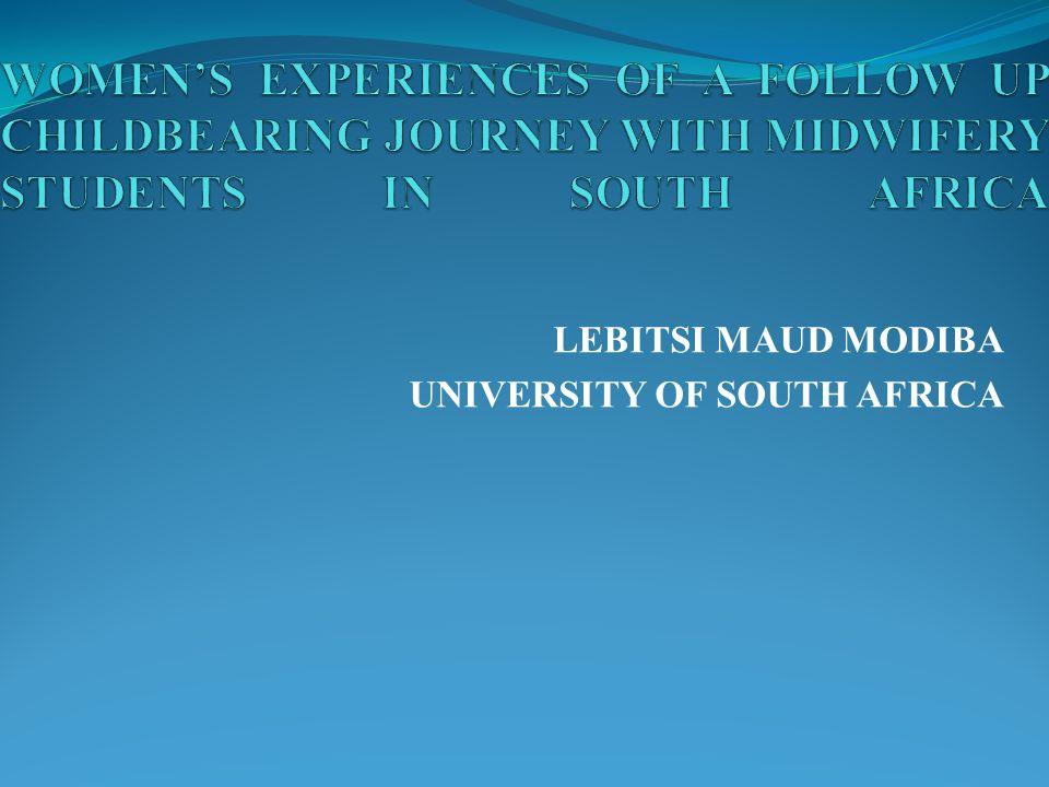 LEBITSI MAUD MODIBA UNIVERSITY OF SOUTH AFRICA