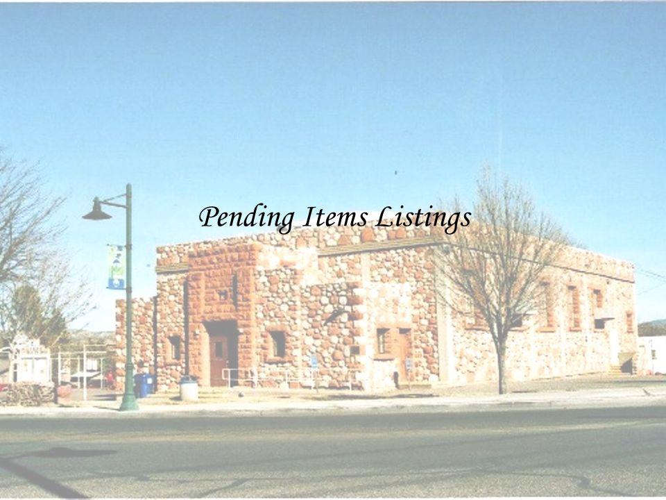 Pending Items Listings