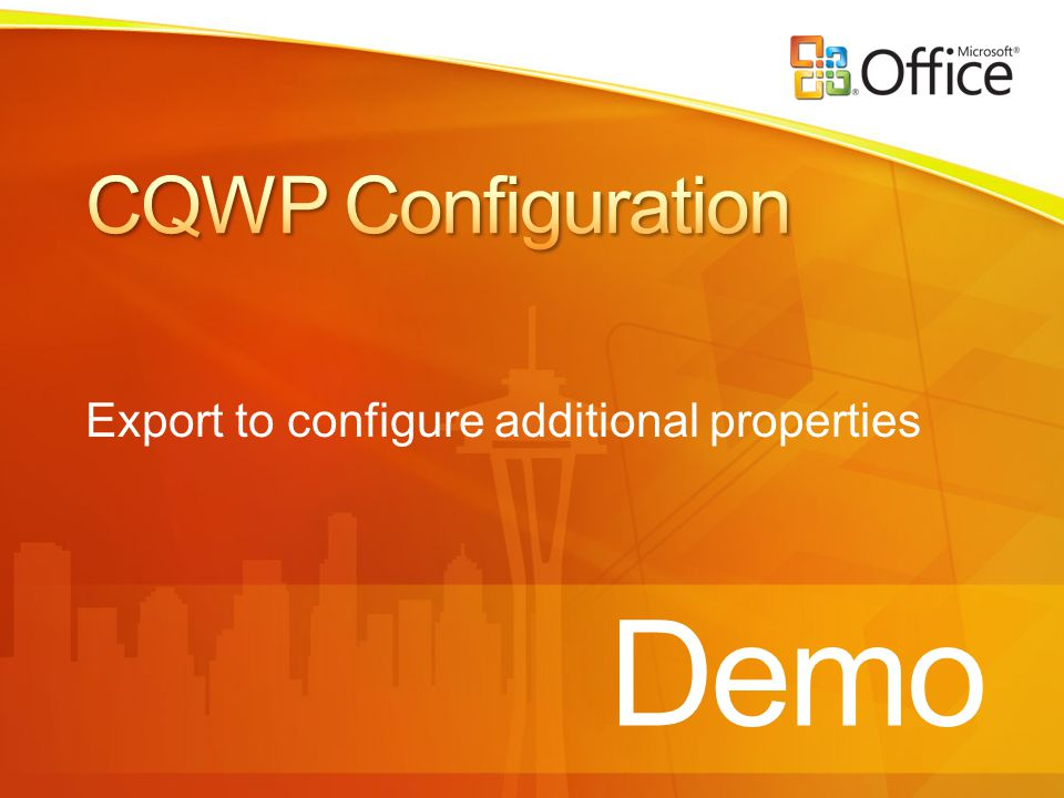 Demo Export to configure additional properties