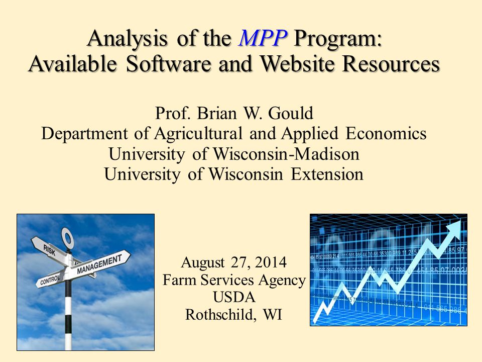 Analysis of the MPP Program: Available Software and Website Resources Analysis of the MPP Program: Available Software and Website Resources Prof.