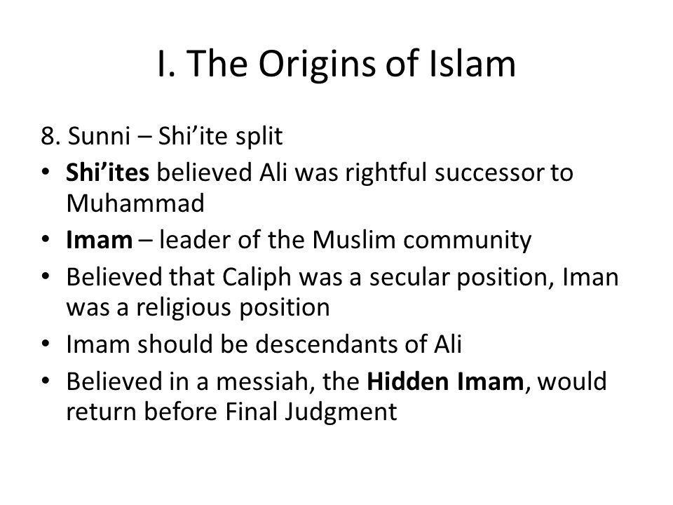 I.The Origins of Islam 8.