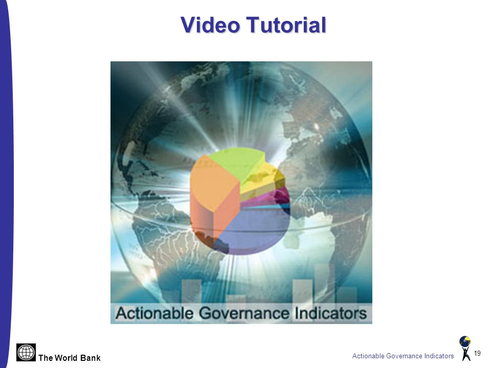 The World Bank Actionable Governance Indicators 19 Video Tutorial