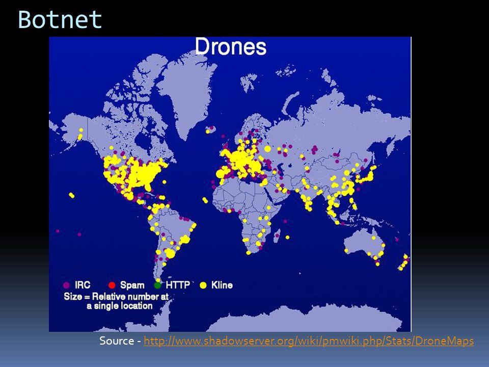 Botnet Source - http://www.shadowserver.org/wiki/pmwiki.php/Stats/DroneMapshttp://www.shadowserver.org/wiki/pmwiki.php/Stats/DroneMaps