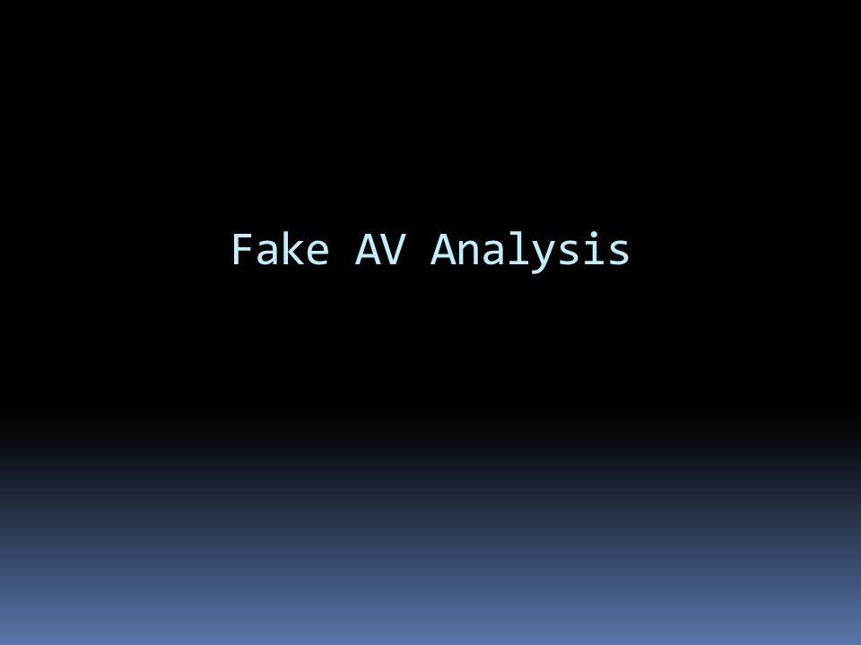 Fake AV Analysis